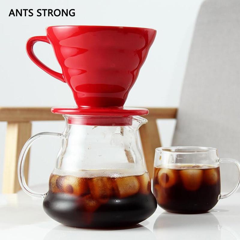 FOURMIS FORTE 1 pcs V60 café goutte à goutte tasse/nuage partage pot café filtre goutte à goutte tasse bouilloire goutteur ensemble accessoires
