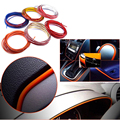 5M Multicolor Universal Car Styling Flexible Interior Chrome Styling Decoration Moulding Trim Strip 5M*4mm