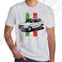Bandera italiana Fiat 127 Sport Mens gris ceniza algodón retro camiseta  mujeres camiseta(China) c73ce8a559de4