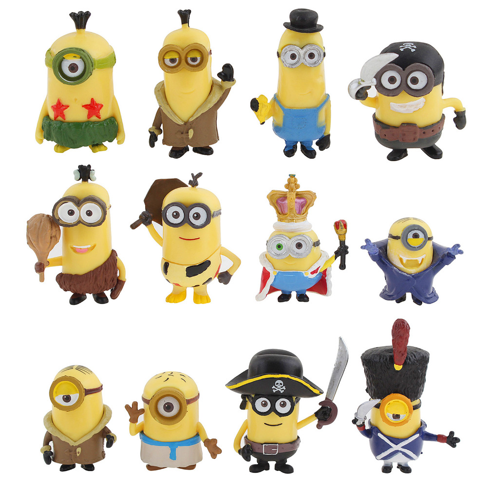 12PCS <font><b>Despicable</b></font> <font><b>Me</b></font> <font><b>2</b></font> <font><b>Minion</b></font> <font><b>in</b></font> <font><b>Action</b></font> <font><b>Figures</b></font> Halloween Day <font><b>Minions</b></font> Garden Ornament Miniature Figurine Fairy Decor Toys Doll
