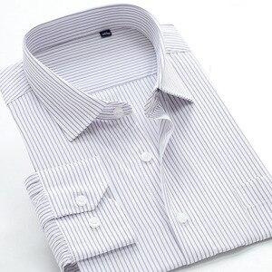 Image 2 - 2017 新浮き秋メンズ竹繊維ストライプシャツフォーマルなドレスシャツ非常にビッグ大プラスサイズ XXL 5XL 6XL7XL8XL 9XL 10XL