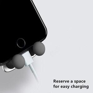 Image 3 - Suporte do telefone do carro de gravidade,, saída de ar para smartfone, suporte de telefone móvel para o sorriso do carro, urso suporte gps,