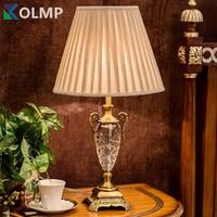 Luxury crystal table light crystal table lamp bedroom bedside for living room Europe house lighting e27 socket quality lights