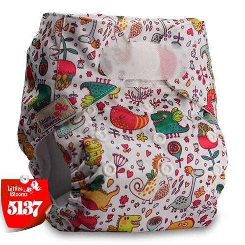 [Littles&Bloomz] Детские Моющиеся Многоразовые, настоящая стандартная ткань, застежка-липучка, карман для подгузников, пеленки, обертывание, подходит для рождения в горшке - Цвет: 5137