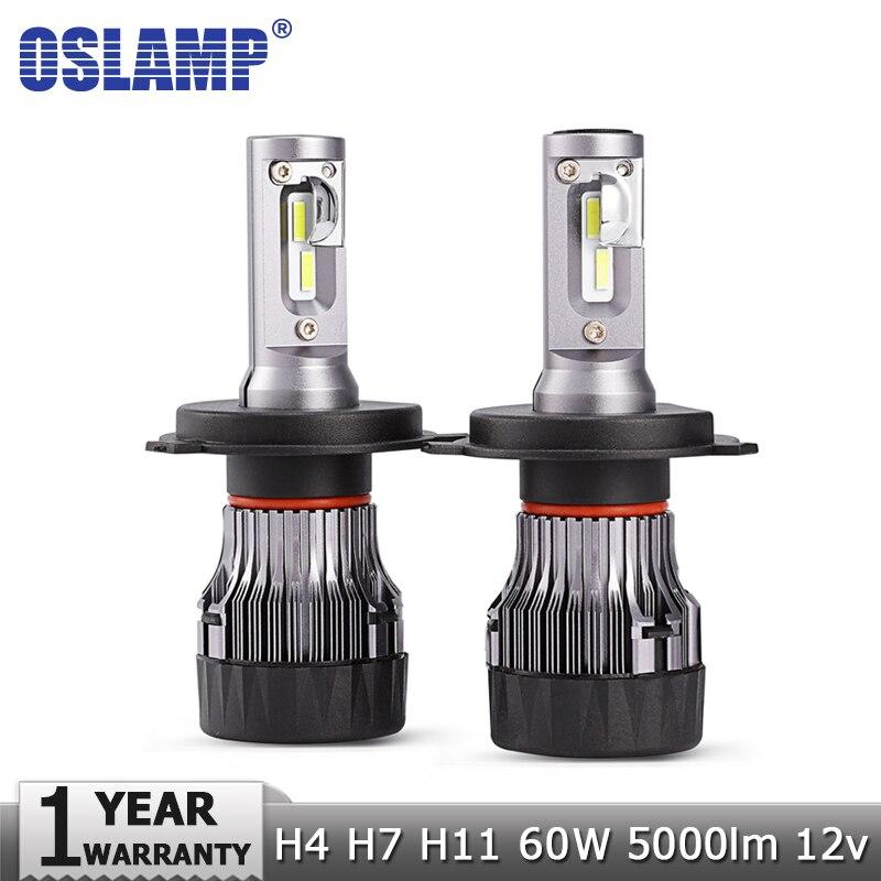Oslamp Mini-h7 H4 H11 60 W LED Car Lâmpadas Dos Faróis Oi lo feixe 12 v 24 v Chips de CSP 5000lm 6500 K Auto Farol Levou Luz de Nevoeiro lâmpada