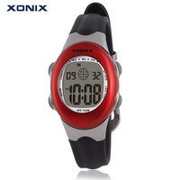 XONIX Luxury Kids Sport Watches LED Electronic Digital Watch Women 100M Waterproof Diving Sport Watches For