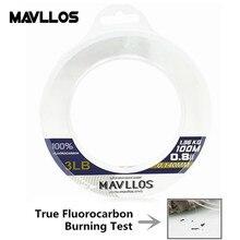 Mavllos – ligne de pêche en fluorocarbone Ture, Monofilament, Super résistante, 50M 100% M, 100-0.14mm, Leader en Fiber de carbone, 0.6