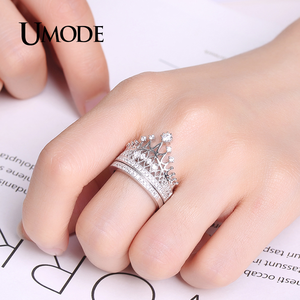 UMODE Luxury CZ Bridal Sets for Women 925 Sterling Silver Jewelry ...