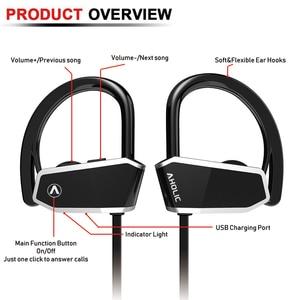 Image 5 - AHOLIC Z10 Sport Bluetooth Earphones HD stereo Noise reduction heavy bass Seamless Waterproof earplugs headphones