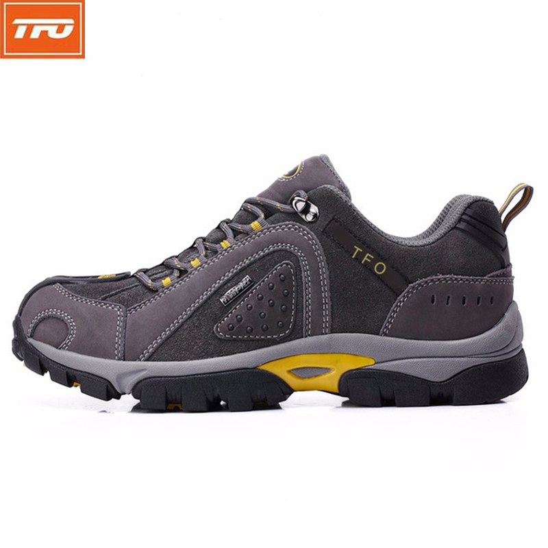 TFO Hiking Shoes Men women Waterproof trekking Outdoor Sneakers Climbing Sports hiking shoes plus large size US 6.5-12 leather brand sneakers women 2017 hiking shoes woman breathable climbing shoes outdoor sneakers waterproof trekking shoes large sizes