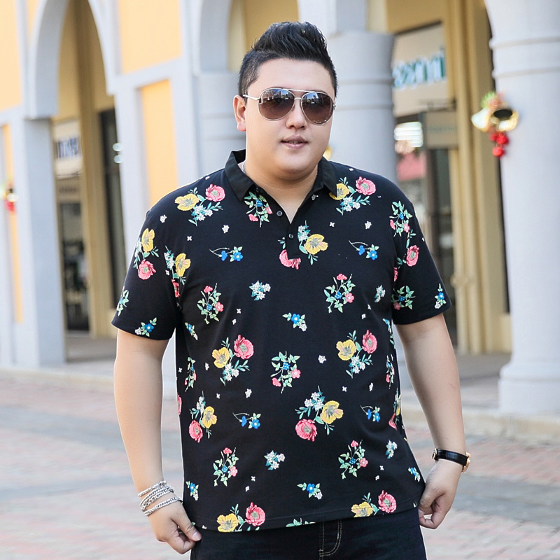2018 nouvelle grande taille 9XL 8XL 7XL 6XL 5XL mode hommes t-shirt ralphmen marque d'été coton palace revers manches courtes