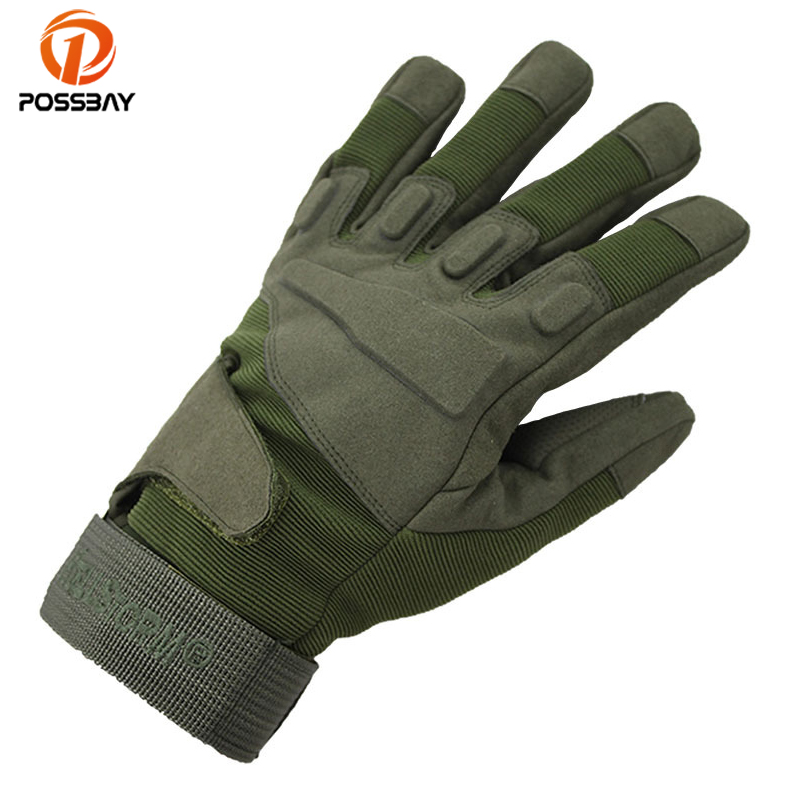 POSSBAY Men Motorcycle Gloves Full Finger Luvas Outdoor Racing Moto Motorbike Vintage Guantes Motocross Breathable Scooter Glove