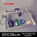 1 шт. 5500 МВт игрушечный уровень DIY лазерный гравировальный станок Рабочая зона 30*38 см лазерный гравер для резки