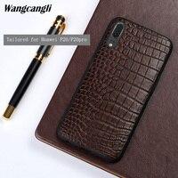 Wangcangli для Huawei p20 pro природных крокодиловой кожи живота все включено Чехол для мобильного телефона из натуральной кожи anti drop пыли