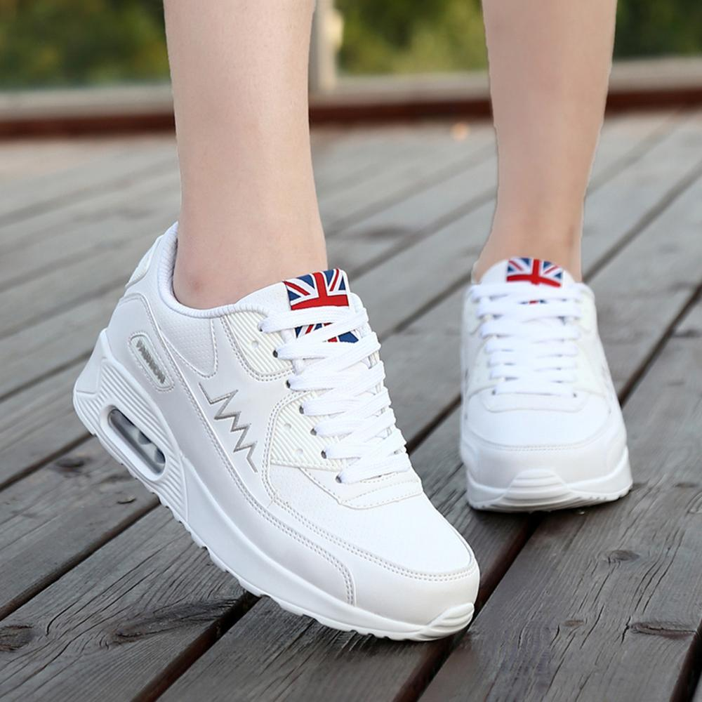 2019 Hot Sale Ladies Simple Shoes Women's Fashion Casual Lace Up Breathable Sport Running Platform Sneakers Shoes Round Toe Shoe