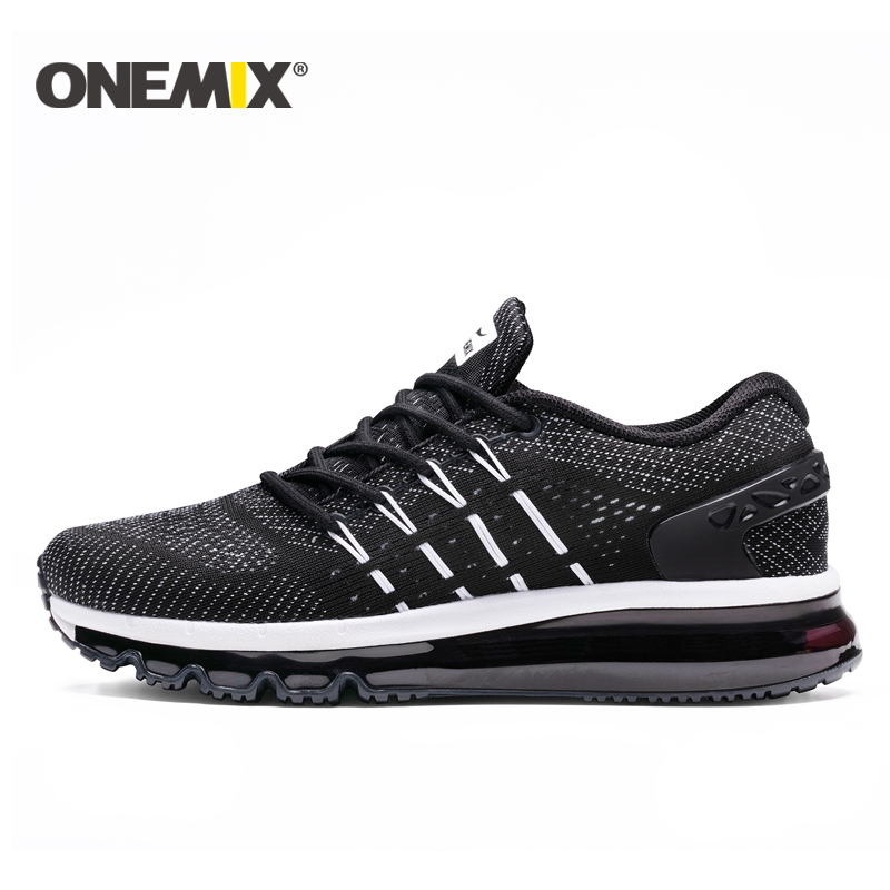 ONEMIX New Air Cushion Running Shoes Men Breathable Runner Sneakers Men Outdoor Sports Walking Shoes For