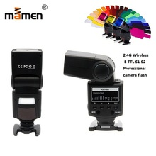 Mamen KM-680 High Speed Flash Light Speedlite SLR Camera Flash 5600K Backlight Digital Camera For Canon 5D2 60D 70D Nikon D5300 triopo tr 988 professional speedlite ttl camera flash with high speed sync for canon and nikon digital slr camera
