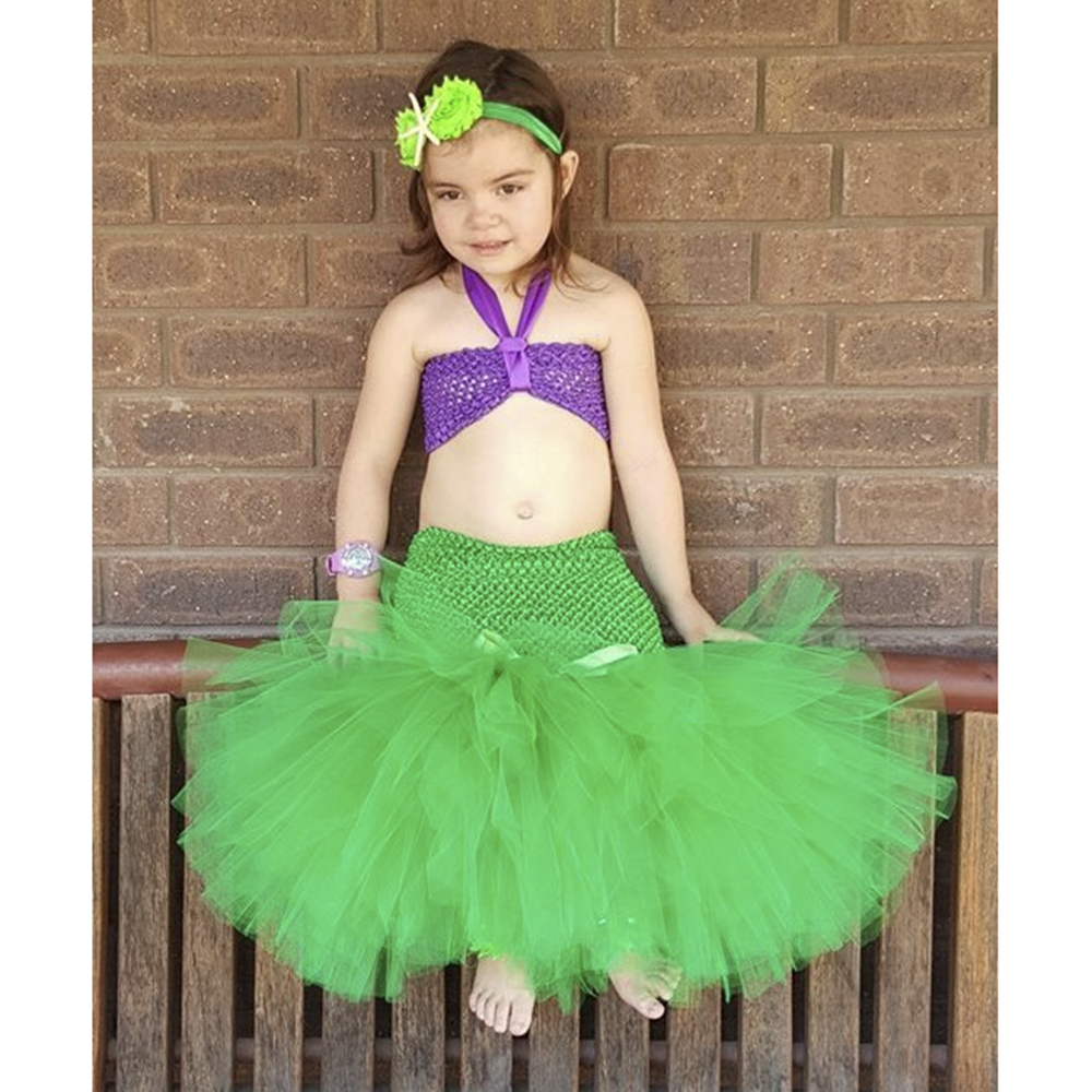 Cartoon Princess Baby Girls Tutu Dress The Little Mermaid Ariel - Children's Clothing