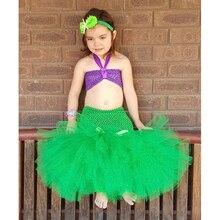 Cartoon Princess Baby Girls Tutu Dress The Little Mermaid Ariel Halloween Party Kids Children Ball Gown Dresses Drama Costume