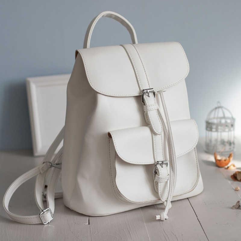 77641f60d433 ... 2017 брендовые кожаные женские рюкзак шнурок сумки школьная сумка для  девочек-подростков сумки женские дамы ...