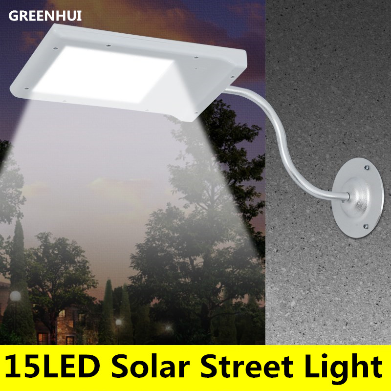 15 LED Solar Powered Street Light Solar Lamp Sensor Light Outdoor Lighting Garden Path Spot Light Wall Emergency Lamp Luminaria