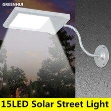 15 Movido A Energia Solar LEVOU Luz Da Rua Solar Lâmpada Sensor de Luz Iluminação Exterior Garden Path Lâmpada de Parede Luz do Ponto de Emergência Luminaria