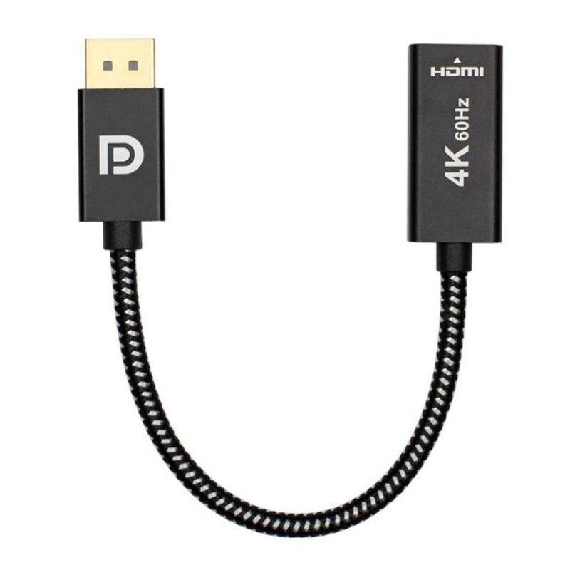 20 cm 4K @ 60 hz Hohe Qualität Display Port zu HDMI 2,0 Kabel Pro DP DisplayPort Stecker auf HDMI weibliche Konverter Kabel für Laptop TV