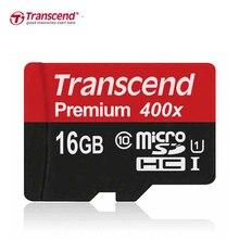 Transcend tarjeta sd micro 16 gb/32 gb/64 gb/128 gb class10 de tarjeta de memoria flash micro sdhc xc 400x para el teléfono/tablet/cámara