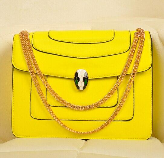 Most Fashion Snake Head Lock Women Handbag Messenger Bag Metal Chain Lady Mochila Satchel School In Shoulder Bags From Luggage On