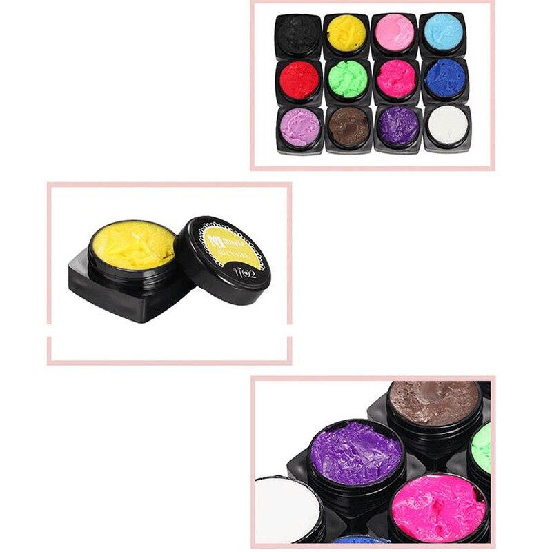 12 Colors 4D Nail LED Gel UV Gel Nails Polish Nail Art Gel 3D Soak Off Gel Polish 2