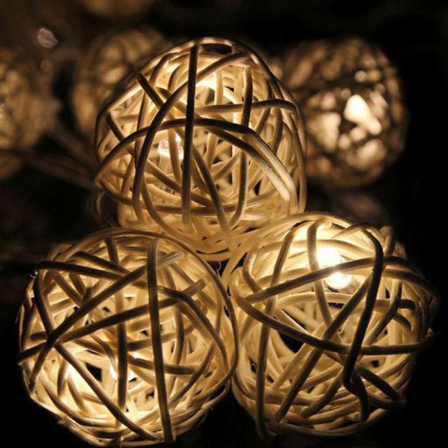 Us 1 78 10 Off Holiday Light Rattan Ball String Light 10 Led Christmas House Decoration Warm Cool White Battery Aa 1 2 M Lustre Square New Year In