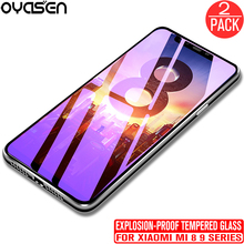 2Pcs/lot For Xiaomi Mi 9 8 SE Lite Pro A2 Redmi Note 7 6 5 9H Explosion-proof Tempered Glass Screen Protective Film