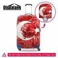Dispalang путешествовать по дороге, по борьбе с пылью крышка багажного отделения Турецкий Флаг стретч багажа крышка косметолог для чемодан защитная крышка