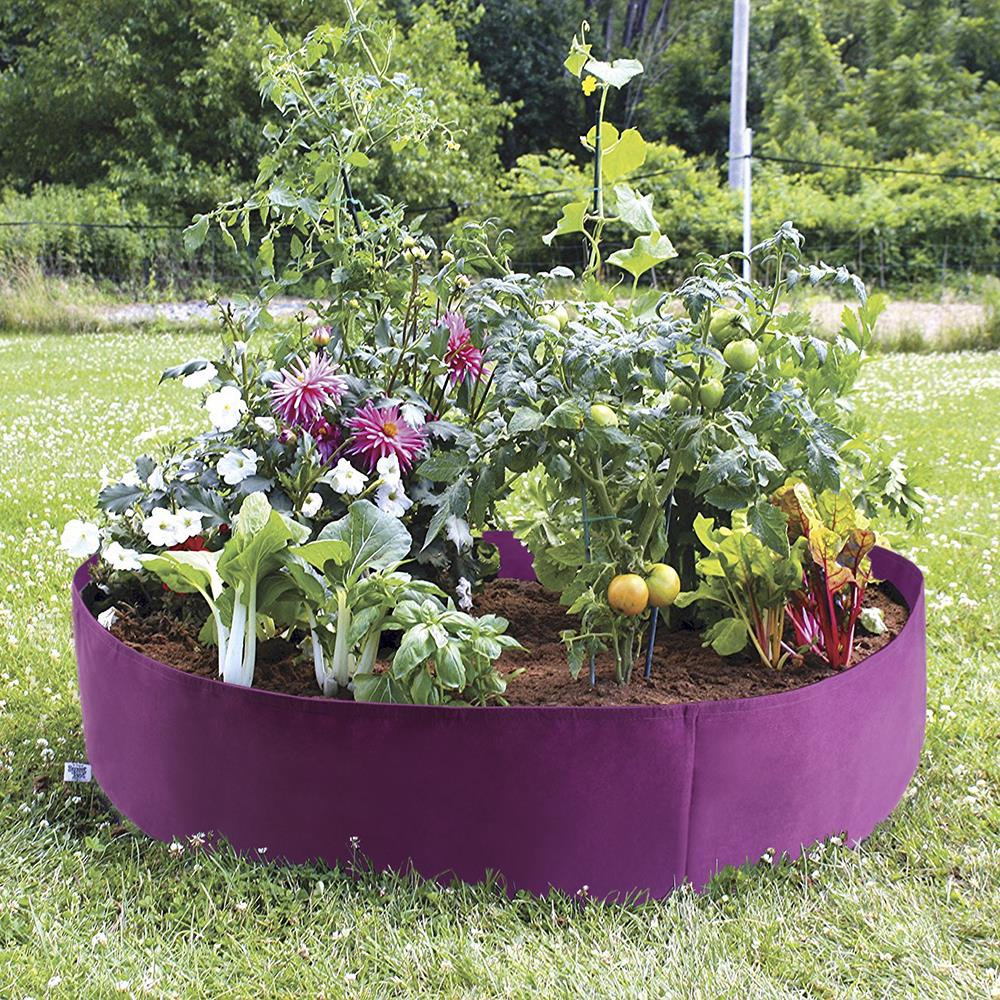 Raised Garden Bed Plants: Fabric Raised Garden Bed 50 Gallons Round Planting