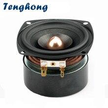 Alto falantes tenghong, 1 peça, 3 Polegada, alcance total, 4ohm 8ohm, 15w, graves medidores, alto falante de alta fidelidade, música para alto falante home theater diy
