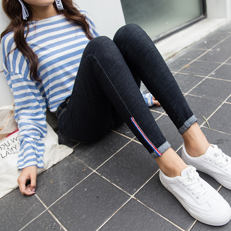 2019 Spring Summer Jeans Woman High Waist Stretch Ripped Ankle Length Skinny Slim Fit Denim Pants for Women Plus Size