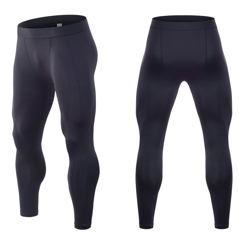 Quick Dry Running Tights Men Compression Pants Gym Bodybuilding Fitness Legggings Male Workout Clothes Sport Wear Sweatpants in Running Tights from Sports Entertainment