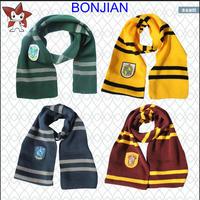 Harri Potter Scarf Scarf Gryffindor Winter Warm Kids Magic School Slytherin Children Boy Hufflepuff Ravenclaw HY12