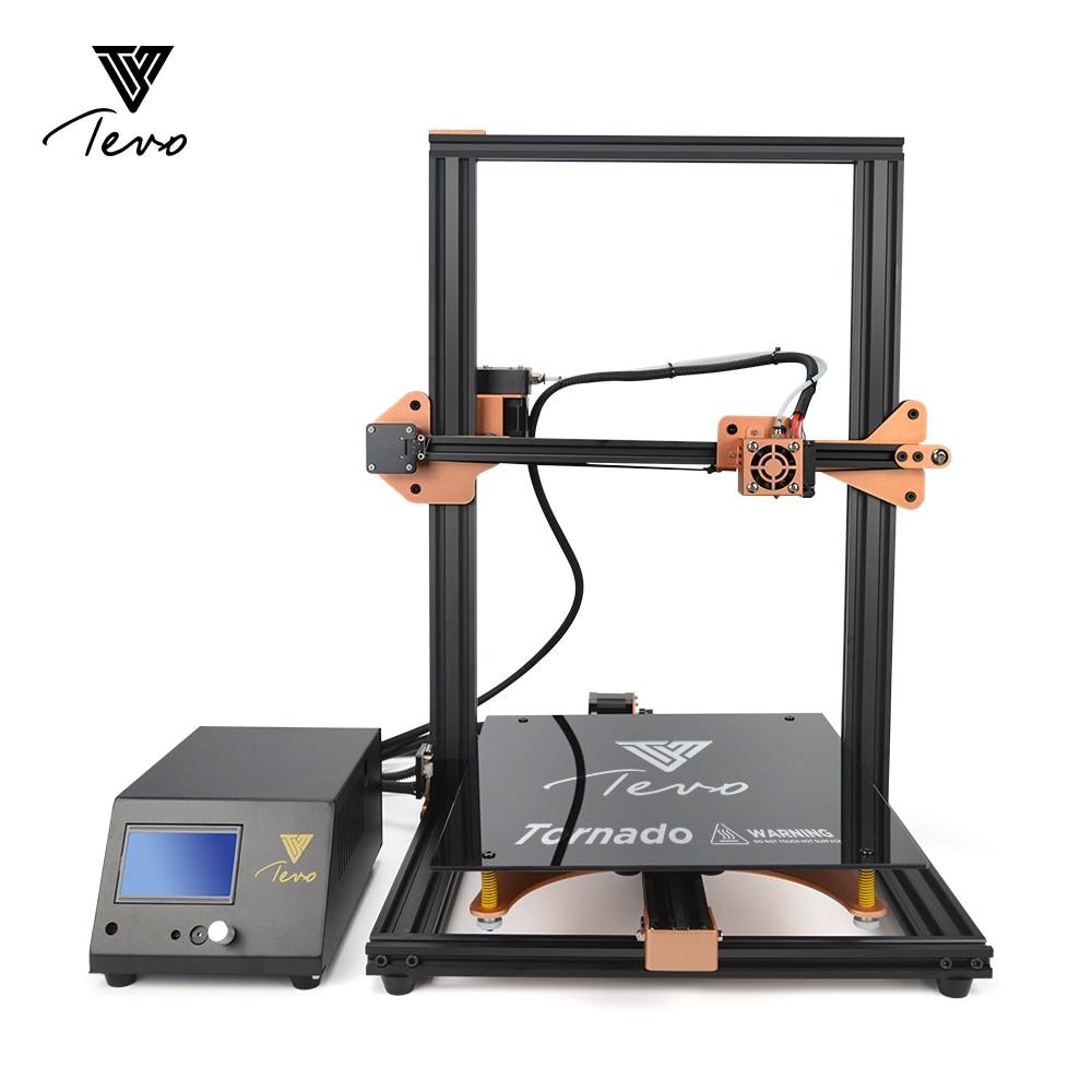 2018 más reciente TEVO Tornado 3D Impresora de gran tamaño de impresión full metal Impresora 3D máquina Impresora tarjeta SD y Titan extrusora