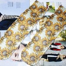 Fuuny носки испортить женские носки подсолнечное масло печати личность тенденция модные удобные мягкие носки женские и носки для девочек