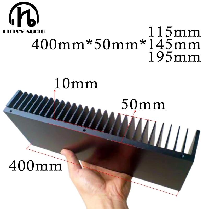 diy radiator aluminum heatsink for amplifier electronic heat dissipation cooling cooler 400 50mm heat sink