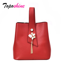 Toposhine Fashion Rumbai Wanita Ember Tas Baru Tas Kasual Liar Kepribadian Single Bahu Messenger Tas(China)