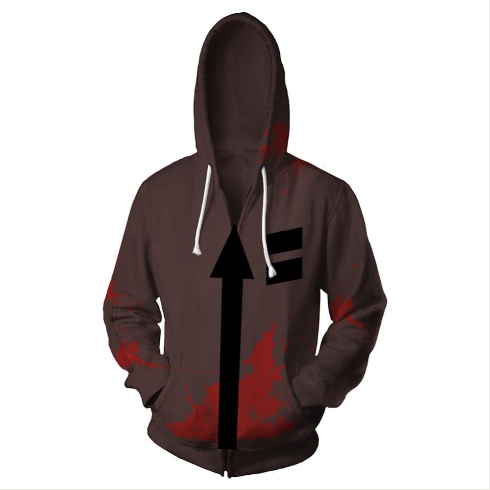 Angels of Death Isaac Foster Cosplay Costume hoodie Sweatshirt Zip Up Jacket Coat Anime Sweatshirts