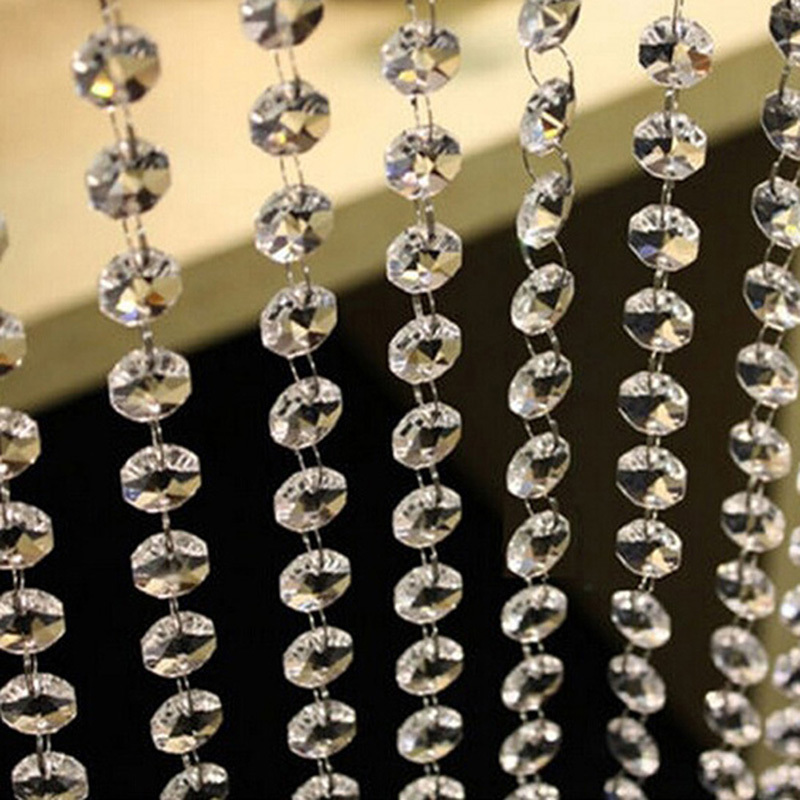 10M Clear CrystalAcryli Bead String Hanging Wedding Door-Curtain Decor Practical