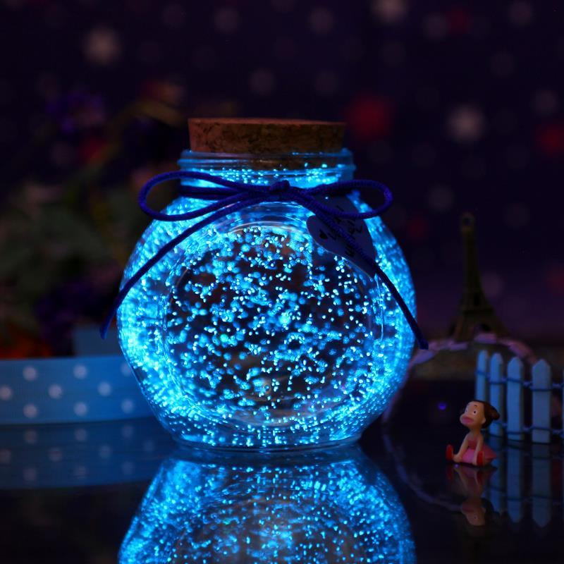 10g Fluorescent Particles Luminous Party DIY Bright Paint Star Wishing Bottle Fluorescent Particles Toys Ornaments