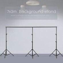 3 メートル × 7 メートル/10ftx23ftプロ写真フォト背景支援システムは、写真ビデオスタジオ + キャリーバッグ
