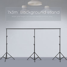 3m x 7m/10ftx23ft 프로 사진 사진 배경 화면 지원 시스템 스탠드 사진 비디오 스튜디오 + 캐리 백