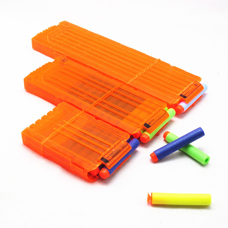 6-18 Orange Reload Clip For Nerf Magazine Toy Gun Accessories Outdoor Shooting Game Bullet Clip Children Toy Gun Supplies