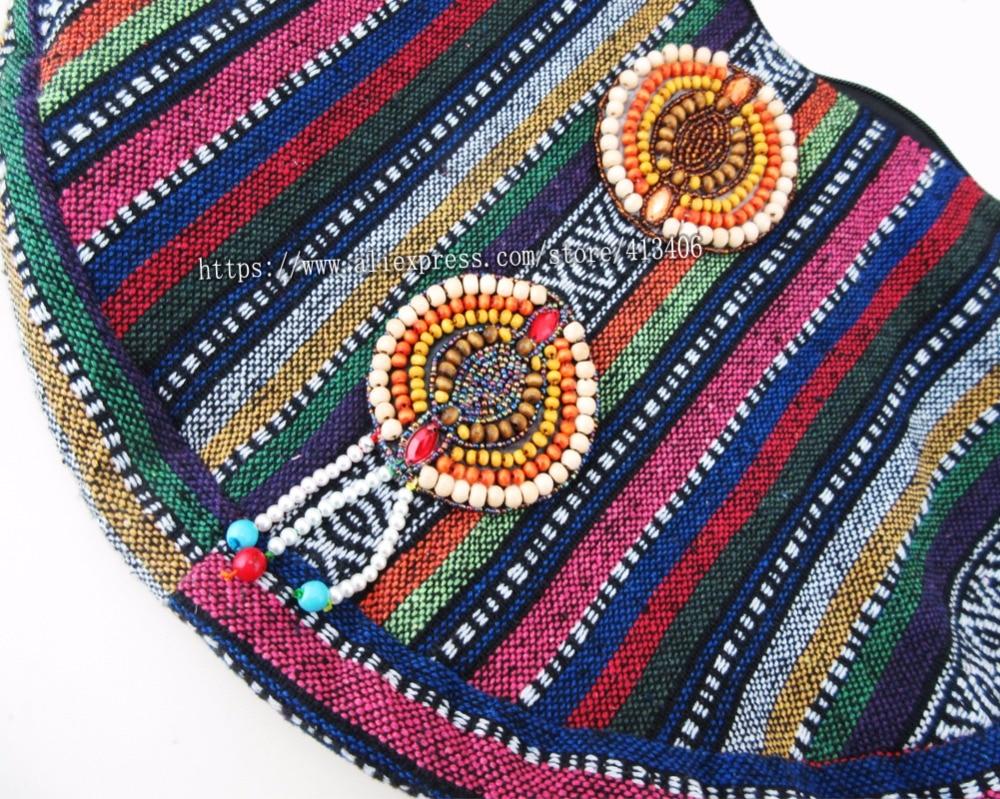 Vintage hmong Boho Tribal étnico indio indio Boho bolso de mano - Bolsos - foto 6
