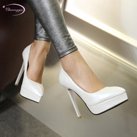 Chainingyee party style sexy pointed toe pumps slip on glitter waterproof pink white gray stiletto high heel women's shoes